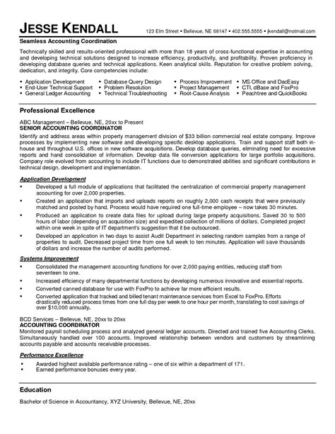 Sle Resume For Staff Accountant Staff Accountant Resume Resume Ideas