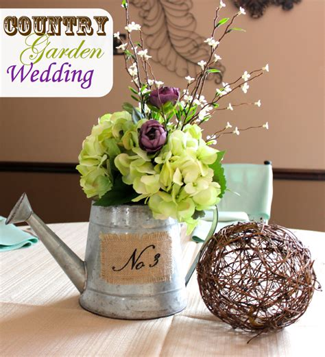 watering can centerpieces centerpieces