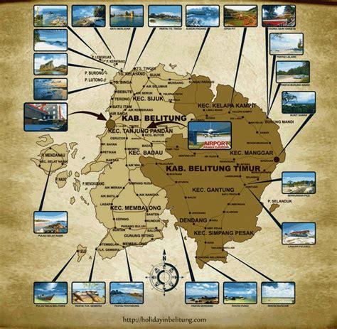 Peta Wisata Provinsi Kepulauan Bangka Belitung Kota Pangkalpinan H1051 catatan perjalanan cantiknya belitung 1 hadiah dari allah