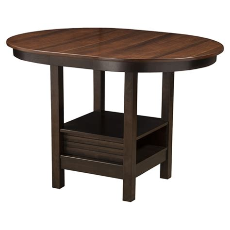 davenport pub table espresso finish walnut top dcg stores