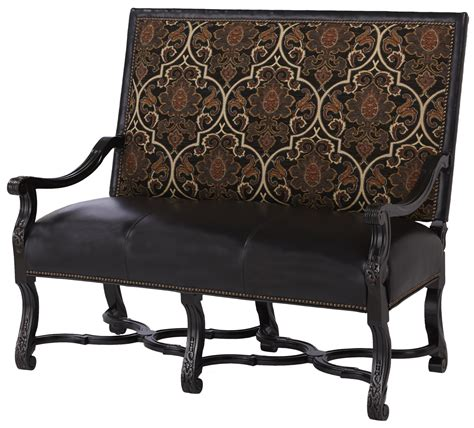 benches and chairs high back bench chair with interesting leather and fabric