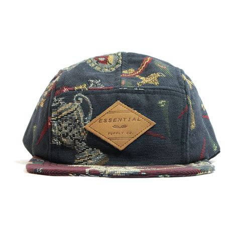 Authentic Visor Label 6 Panel Navy golf tapestry 5 panel hat navy the essential supply co touch of modern