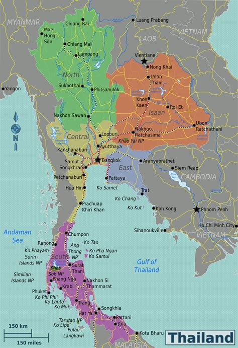 map thailand thailand travel guide at wikivoyage
