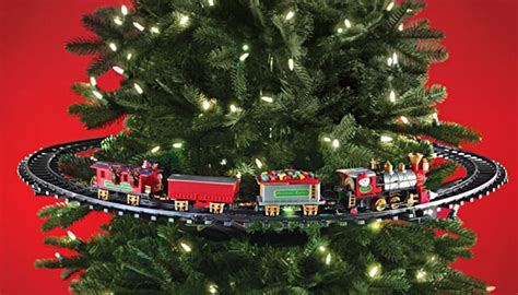 toy that goes around christmas tree hammacher schlemmer has a that goes in your tree