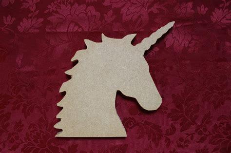 Unicorn Wood Pattern | wooden mdf unicorn head freestanding craft shape