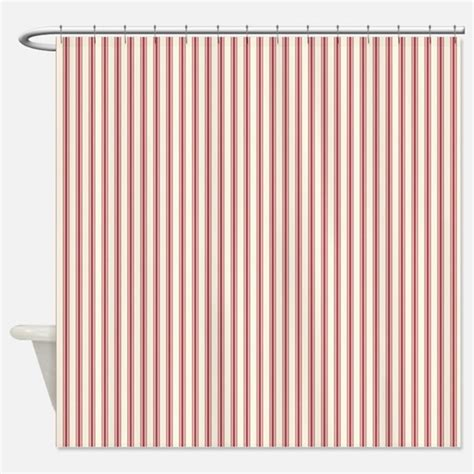 red ticking shower curtain fabric home accessories unique home kitchen accessories
