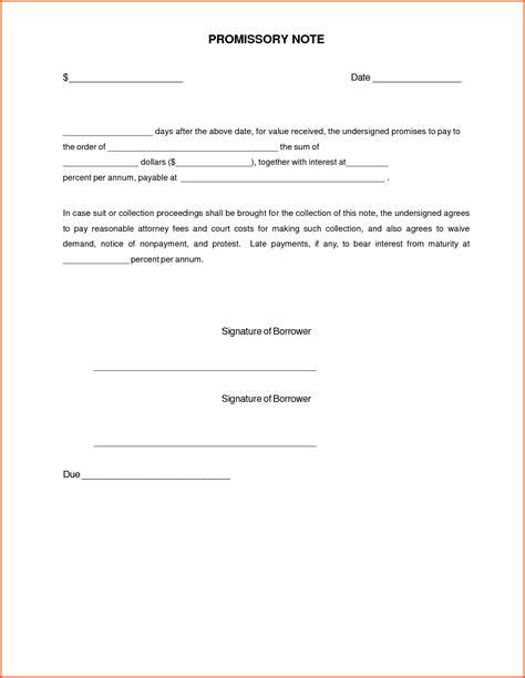 promissory letter template doc 711360 release form promissory note bizdoska