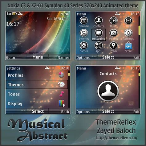 themes nokia x2 by marteeni musical abstract animated theme for nokia c3 x2 01