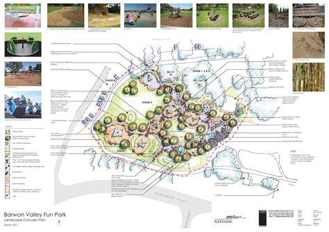 layout landscape directory barwon valley fun park landscape plan