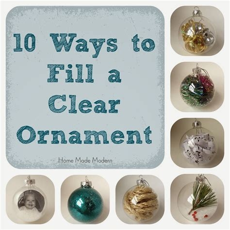 Clear Ornament Ideas - home made modern how to make personalized ornaments