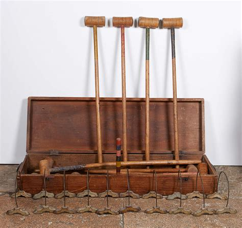 indoor croquet set  stdibs