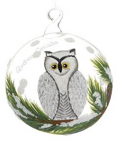 arctic white snowy owl personalized ornament