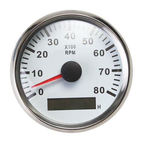 boat rpm gauge marine tachometer gauge led hour meter boat rpm 12v 24v