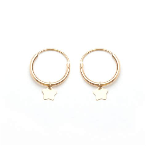 charm hoop earrings by jewellery