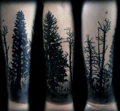 Black Hairstyles For 60 Pine Trees by 100 Forearm Sleeve Designs For Manly Ink Ideas