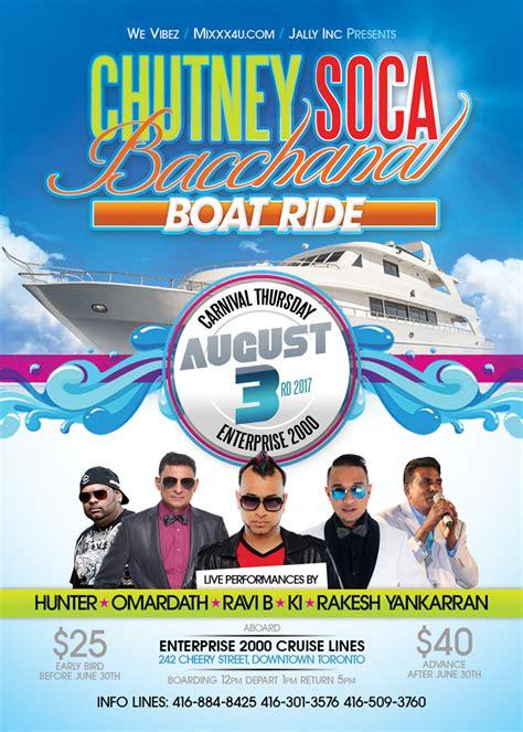 boat ride toronto bacchanal boat ride 2017 toronto buy tickets