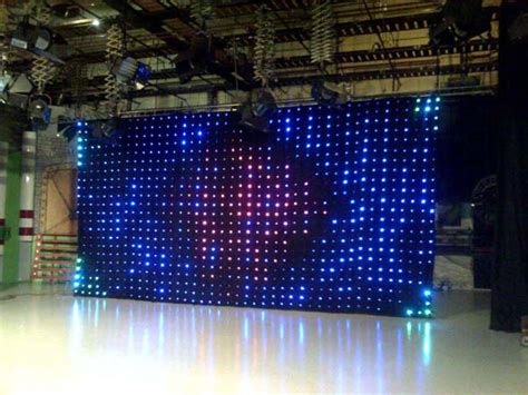 led backdrop curtain starvision led vision display effects starcloths
