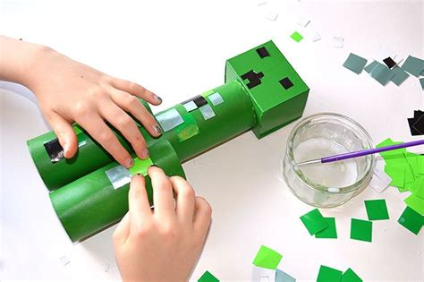 minecraft arts and crafts projects toilet roll minecraft creeper craft for