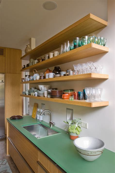kitchen shelves designs open shelving in the kitchen town country living
