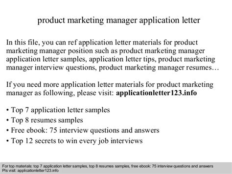 Application Letter Format Ppt Product Marketing Manager Application Letter