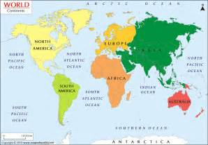 what are the 7 continents from to smallest