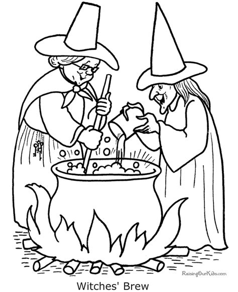 coloring pages of halloween witches 007