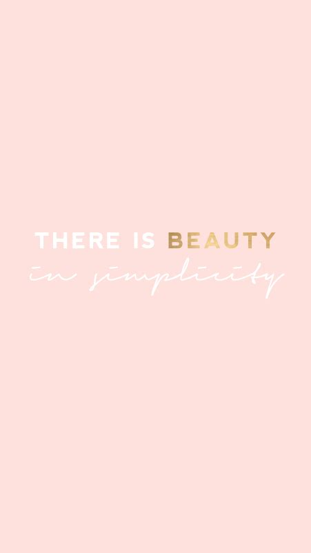pattern lock quotes blush pink beauty in simplicity iphone background