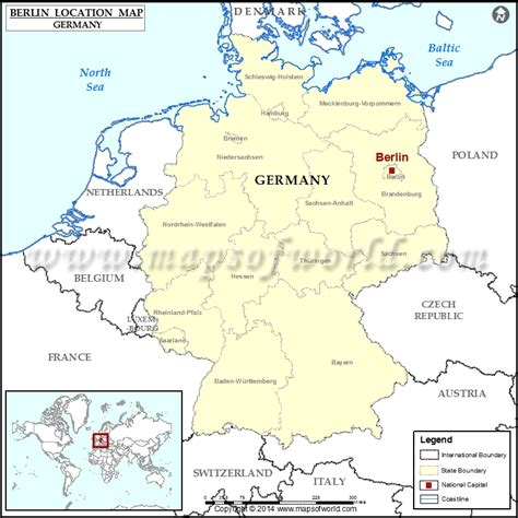 berlin on the world map where is berlin location of berlin in germany map
