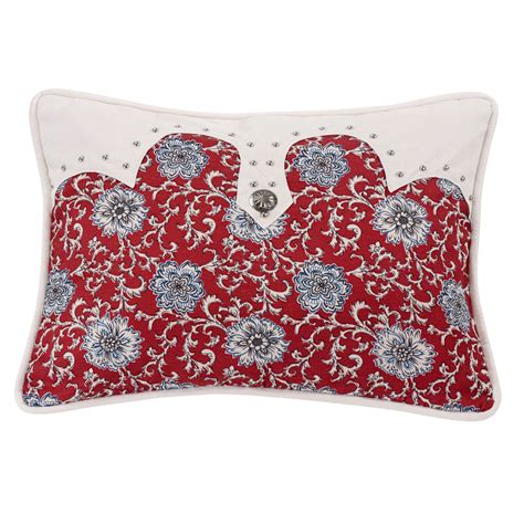 bandana bed sheets bandana floral oblong pillow with concho