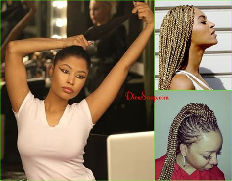 nicki minaj inspired feedin cornrows done by london s natural hair braids nicki minaj show off natural black
