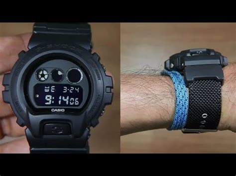 Gshock Dw 6900 Bbn 1dr casio g shock dw 6900bbn 1a cloth band unboxing