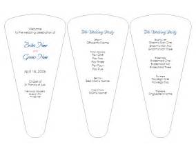 wedding fan templates free rustic paddle fan wedding program template