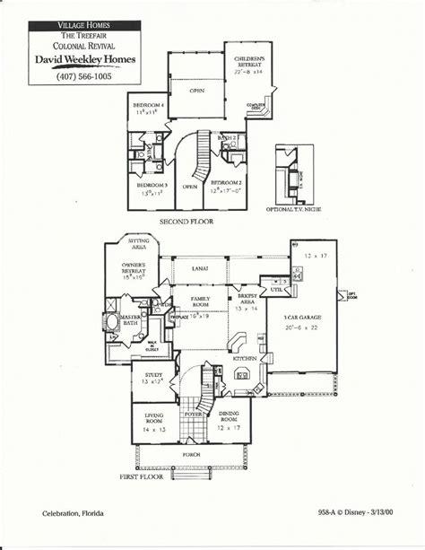 floor plans of huntington village colonial trefair colonial revival floor plans in celebration fl