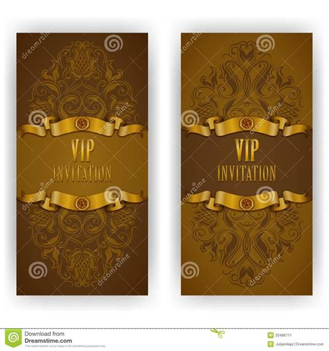 elegant template for vip luxury invitation stock image