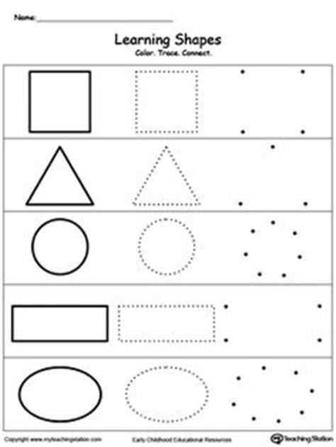 printable dotted line shapes shapes math worksheets preschool worksheets