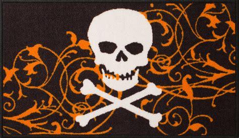 skull rugs essential home 17 quot x 30 quot gloucester skull doormat rug