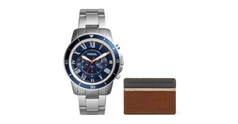 Grant Sport Chronograph Stainless Steel And Wallet Box Set grant sport chronograph stainless steel and wallet