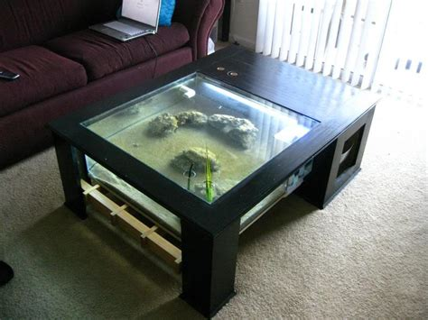 diy aquarium coffee table fishtank coffee table glass bottom effect page 4 the