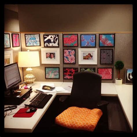 office cube decor unique cubicle office decorating ideas with dollar tree frames with white square table and black
