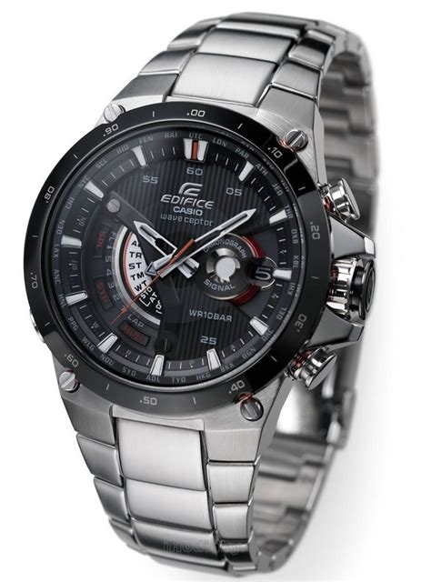 Casio Edifice 8051 Silver Box casio premium edifice world time radio controlled solar