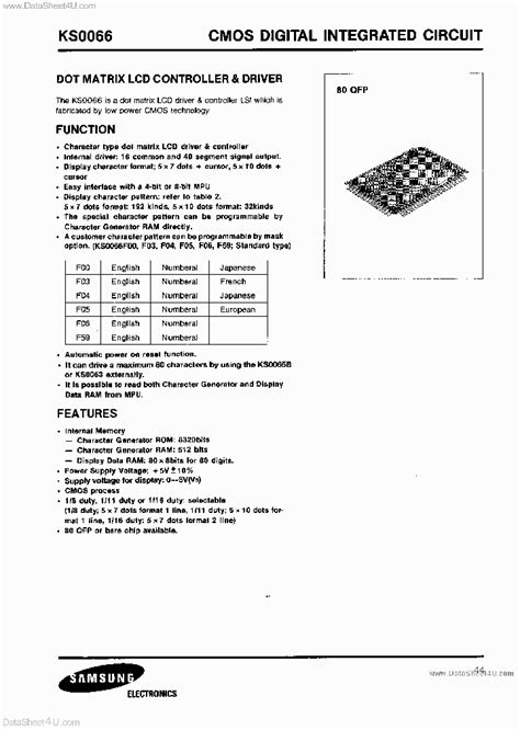 digital integrated circuits uf ks0066f00 693566 pdf datasheet ic on line