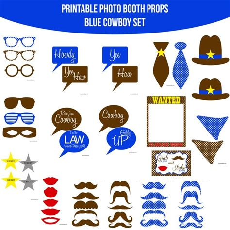breakfast at t s printable photo booth props 38 best images about cowboy party on pinterest wild west