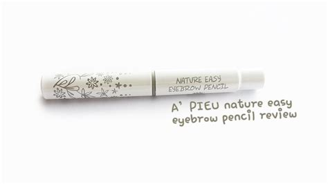 Nature Easy Eyebrow Pencil a pieu nature easy eyebrow pencil review that 누구