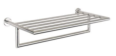 Chrome Bathroom Shelves For Towels Chrome Towel Shelf Images