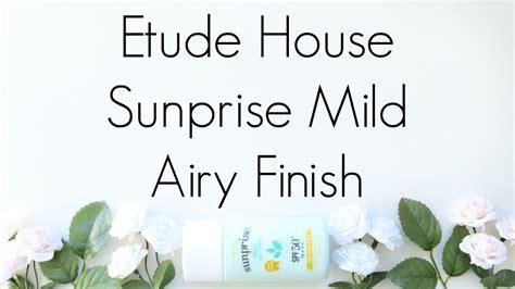 Harga Etude House Sunprise Mild Airy Finish review etude house sunprise mild airy finish
