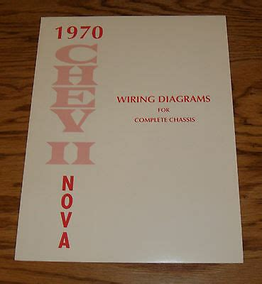 chevrolet chevy ii nova wiring diagrams  complete chassis  ebay