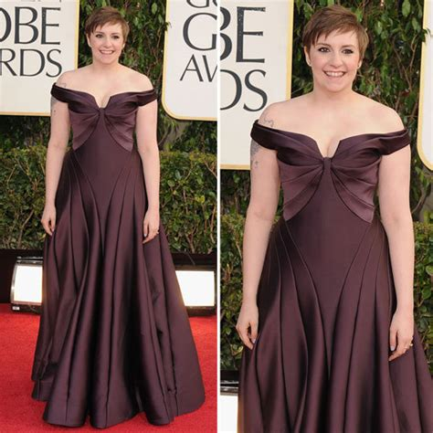 lena dunham red carpet lena dunham golden globes red carpet fashion 2013