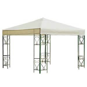 Canopy Tops For Gazebos by Outdoor Gazebo Replacement Top Canopy 10 X 10 In Ivory