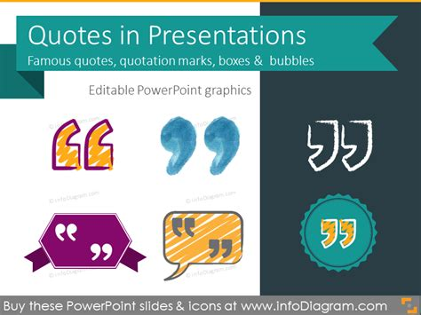 30 Famous Quotes In Presentation Ppt Template Creative Quotation Mark Box Quote Presentation Templates