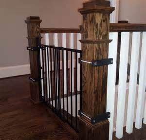 child gate for stairs with banister baby gates babyproofing help i atlanta s pro babyproofer